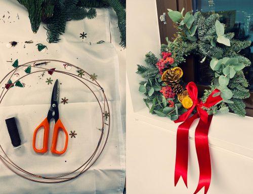 Wreath making at Christmas!